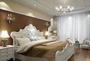 简约欧式风格大户型室内主卧室装修效果图