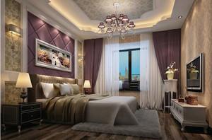 120平米简欧风格精致温馨舒适卧室吊顶2016图片