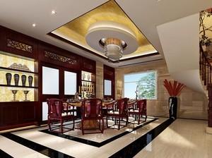 大户型中式风格餐厅设计装修效果图欣赏