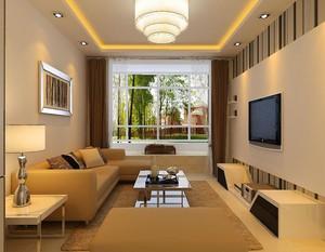 100平米大户型现代客厅设计装修效果图欣赏