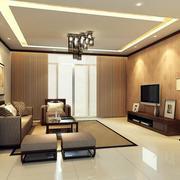 2016大户型中式客厅设计装修效果图欣赏