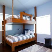 简约时尚创意儿童房双层床装修