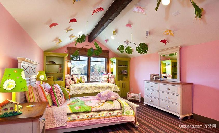 2016年全新款时尚创意温馨舒适室内儿童房装修效果图