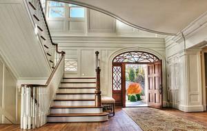 欧式风格复式楼室内楼梯整体设计装修效果图大全