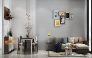 60平米小户型都市温馨创意时尚女生公寓装修效果图