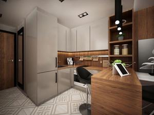 90平米自然灰色空间简约室内公寓装修效果图赏析