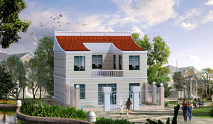 现代简约农村小洋楼整体设计装修效果图