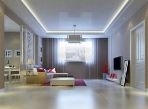 2016别墅欧式客厅电视背景墙装修效果图实例
