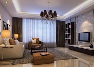 100平米欧式风格客厅电视背景墙设计装修效果图