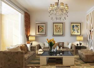 欧式风格别墅型客厅装修效果图实例