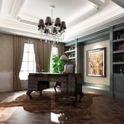 欧式风格精致别墅型室内书房书架装修效果图