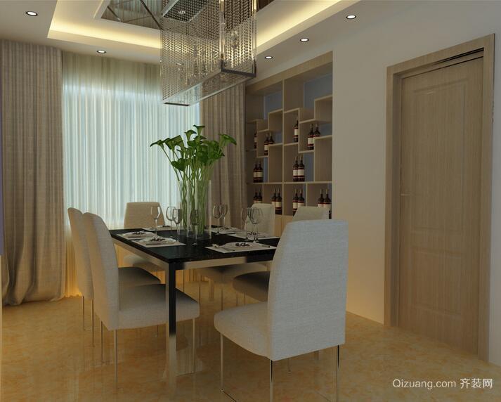 120平米大户型室内餐厅背景墙设计装修效果图