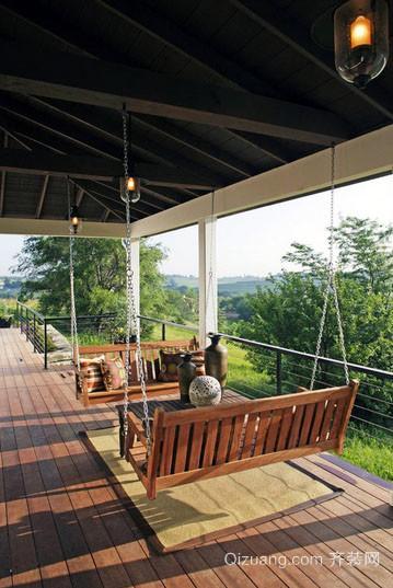 100平米美式乡村风格自然舒适阳台装修效果图