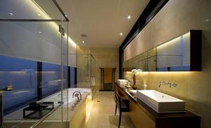 120平米现代简约风格室内卫生间地板砖装修效果图