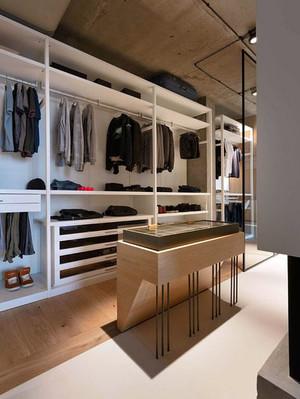 9平米现代简约风格时尚大气衣帽间大衣柜装修效果图