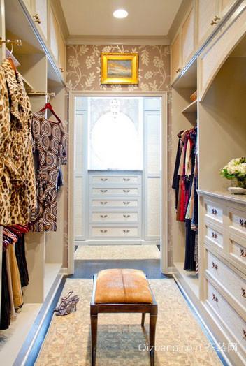 现代欧式风格简约大户型室内衣帽间装修效果图