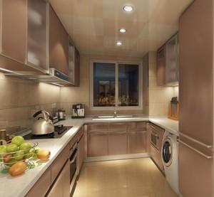90平米欧式别墅厨房橱柜设计装修效果图