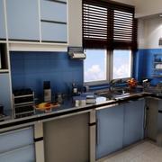 三居室欧式风格橱柜装修效果图鉴赏