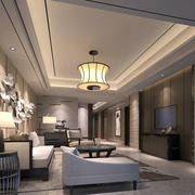 客厅精致吊灯设计