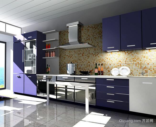2016欧式室内厨房橱柜设计装修效果图