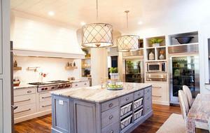 别墅现代美式风格精致室内厨房装修效果图赏析