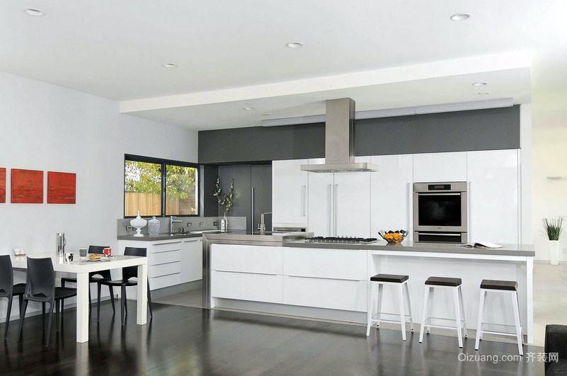 100平米现代家居最受欢迎的简约风格开放式厨房装修效果图