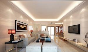 现代简约风格时尚温馨两室两厅室内客厅装修效果图