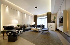 三居室都市风格简约室内客厅吊顶装修效果图鉴赏