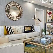 现代美式风格客厅装修