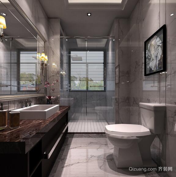 欧式风格别墅小卫生间装修效果图鉴赏