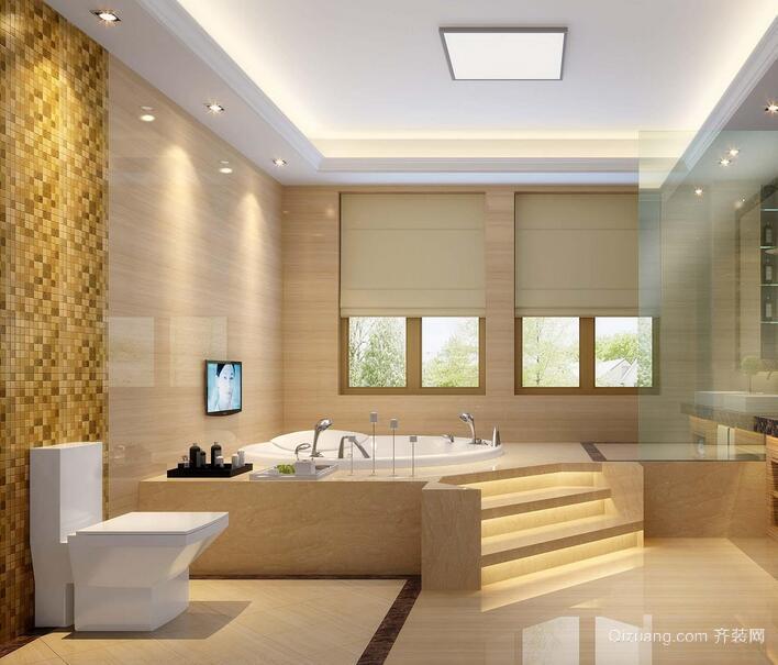 小户型现代时尚卫生间装修效果图实例