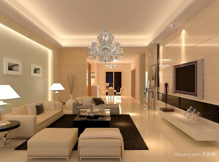 经典的大户型客厅设计装修效果图实例