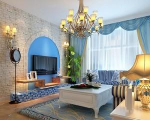 大户型地中海风格客厅设计装修效果图鉴赏