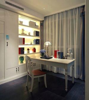 现代风格简约朴素室内书房书架装修效果图