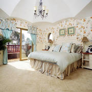 欧式田园风格大户型温馨舒适卧室装修效果图鉴赏
