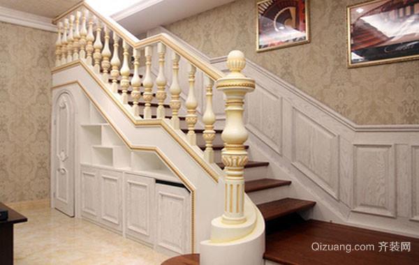 欧式风格别墅型楼梯设计装修效果图赏析