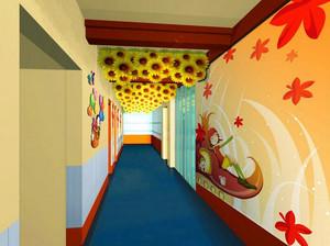 现代风格卡通创意幼儿园壁画装饰设计装修效果图