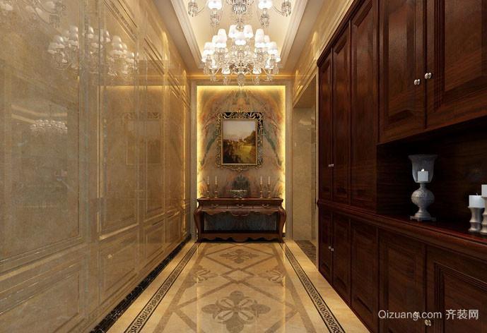 古典欧式风格别墅精致典雅进门玄关装修效果图
