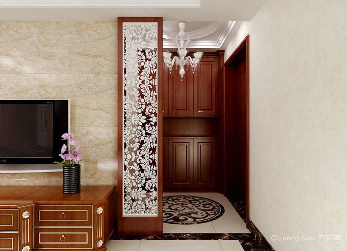 现代欧式风格精致典雅室内玄关隔断装修效果图