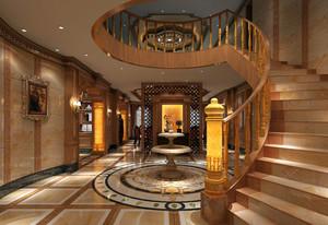 200平米别墅高贵典雅欧式风格楼梯装修效果图