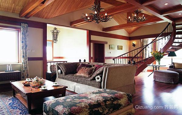 美式乡村风格大户型精致公寓装修效果图赏析