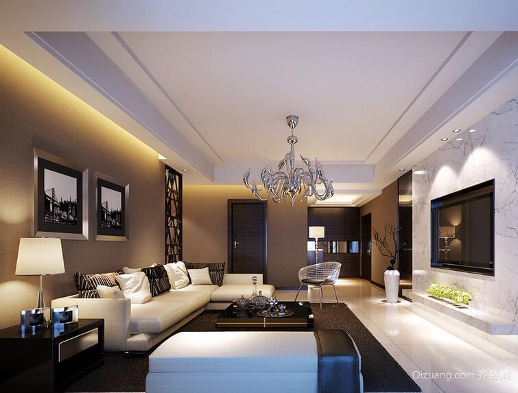 2016大户型欧式客厅背景墙设计装修效果图欣赏