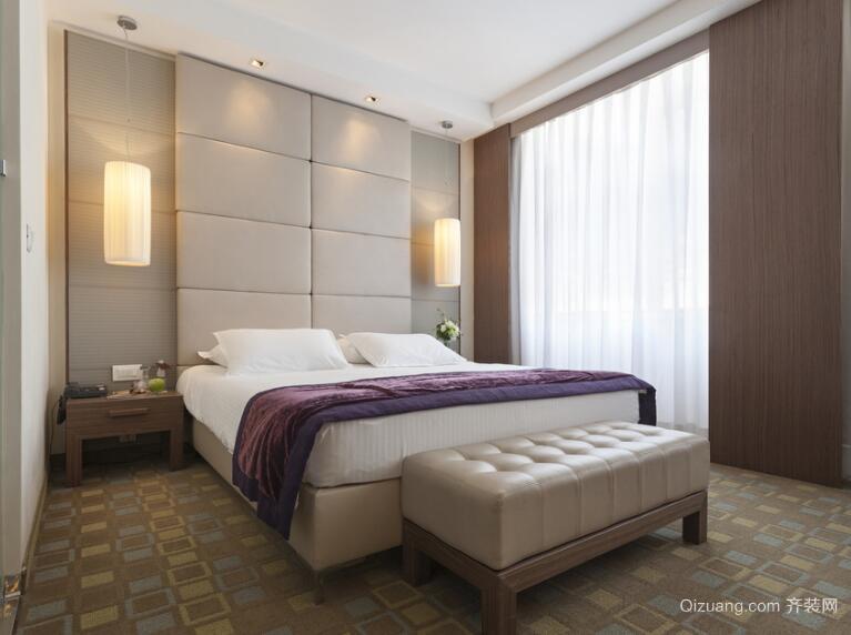 2016别墅型欧式卧室背景墙设计装修效果图