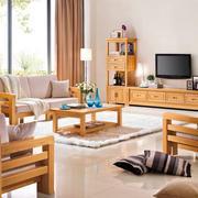 精致自然实木沙发