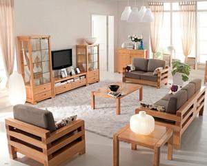现代简约风格三居室实木沙发装修效果图片大全