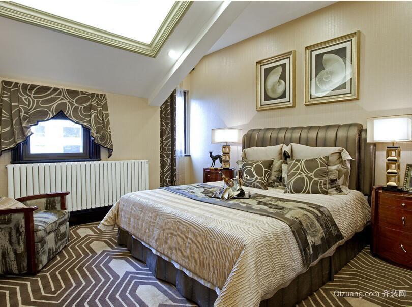 100平米大户型欧式卧室吊顶设计装修效果图