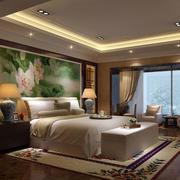 中式风格卧室背景墙装修