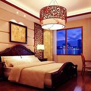 现代中式风格卧室效果图