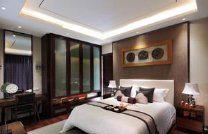 现代中式风格进精致典雅卧室装修效果图