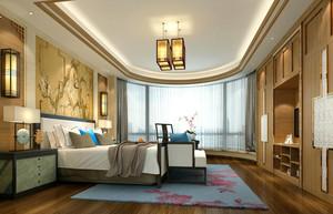 大户型新中式风格精致室内卧室装修效果图